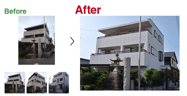 塗替えコンビニの施工事例